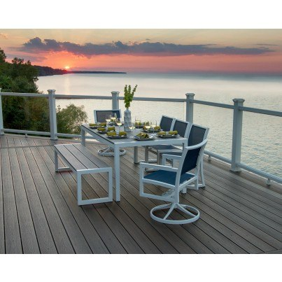 "Trex® Outdoor Furniture™ Parsons Harvest 39"" x 78"" Dining Table  by Trex Outdoor Furniture"
