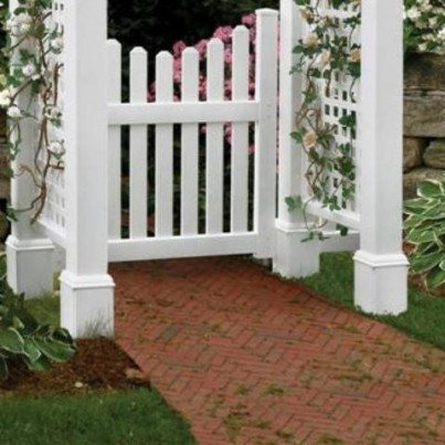 Cottage Arbor Picket Gate  by Frontera Furniture Company