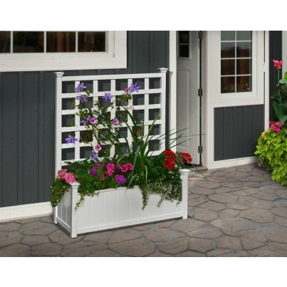 Huron Planter with Trellis  by Frontera Furniture Company