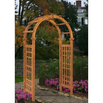 Rosewood Composite Arbor  by Frontera Furniture Company