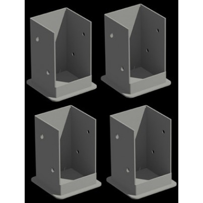 Pergola Bolt Down Bracket System for Wood or Cement - 4 Pack  by Frontera Furniture Company