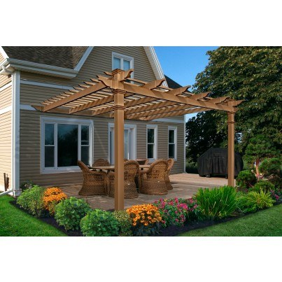 Kennedy Attached Composite Pergola  by Frontera Furniture Company