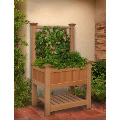 Bloomsbury Composite Planter Box & Trellis  by Frontera Furniture Company