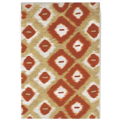 "Trans-Ocean Visions II Ikat Diamonds Red 24""x36""  by TransOcean"