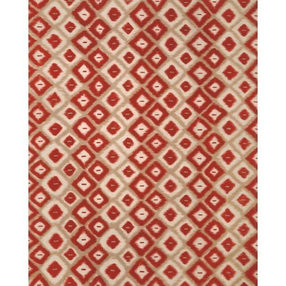 Trans-Ocean Visions II Ikat Diamonds Red 8'x10'  by TransOcean