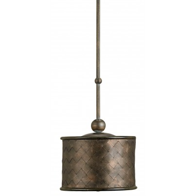 Currey & Company Veneta Iron Pendant Light Chandelier  by Currey & Company