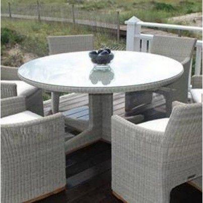 """Kingsley Bate Westport Wicker 60"""" Round Dining Table  by Kingsley Bate"""