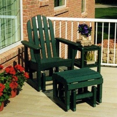POLYWOOD® Classic Adirondack Glider Chair  by Polywood