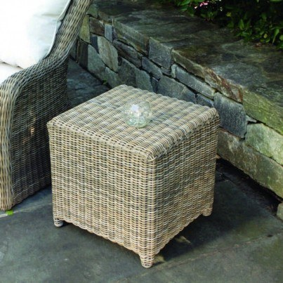 """Sag Harbor Woven 19.5"""" Square Side Table / Stool"""