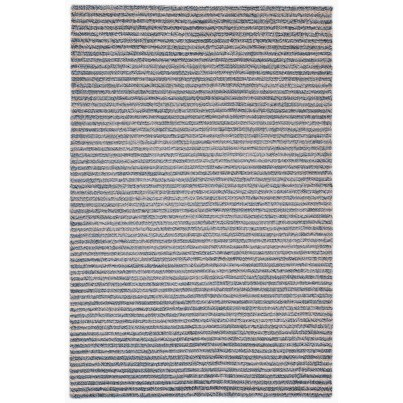 "Trans-Ocean Wooster Stripes Denim Rug 42""x66""  by TransOcean"