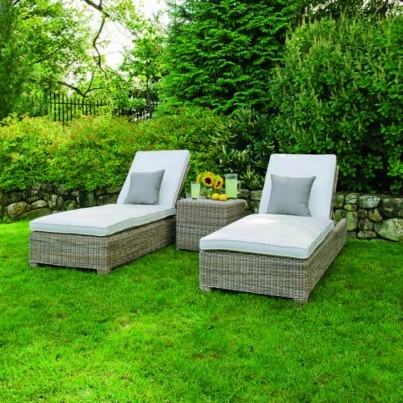Woven Chaise Lounge Chairs