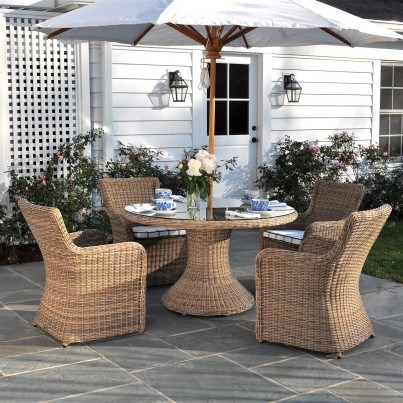 """Sag Harbor Woven 60"""" Round Dining Table"""