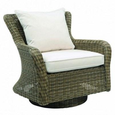 Kingsley Bate Sag Harbor Wicker Deep Seating Swivel Rocker Lounge Chair  by Kingsley Bate