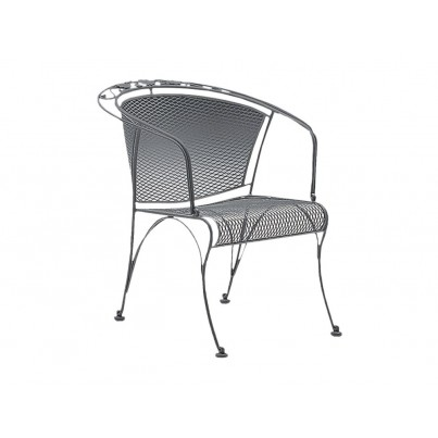 Woodard Briarwood Wrought Iron Barrel Dining Chair  by Woodard
