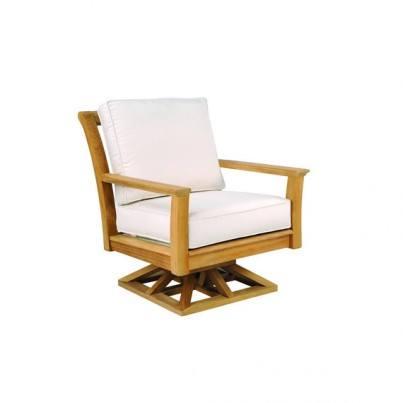 Kingsley Bate Chelsea Teak Deep Seating Swivel Rocker Lounge Chair