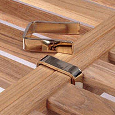 Barlow Tyrie Capri Polished Brass Frame Clips