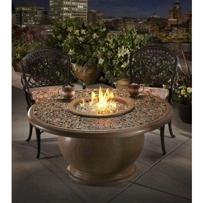 L Anfora Rattan Amphoren Lounge.Amphora Round Fire Pit Table With Granite Top