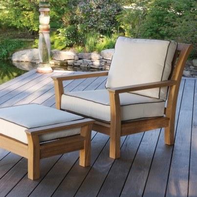 Kingsley Bate Chelsea Teak Deep Seating Lounge Chair