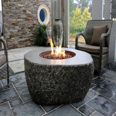 Eco-Stone Burning Rock Fire Pit Table