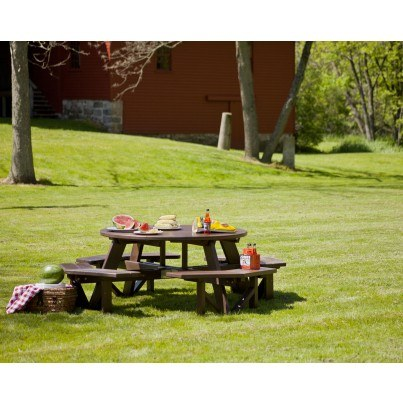 POLYWOOD Park Round Picnic Table - Polywood park picnic table