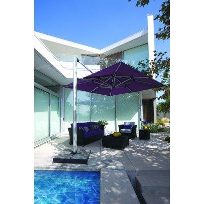 "Shademaker Polaris 11'5"" Square Cantilever Umbrella"