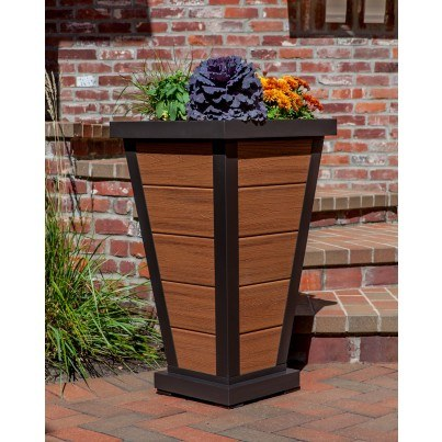 "Trex® Outdoor Furniture™ Parsons Pyramid 18"" Planter 5 Board"