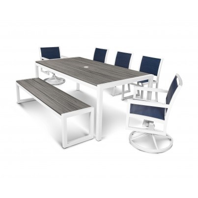 Trex® Outdoor Furniture™ Parsons 7-Piece Dining Ensemble with Bench
