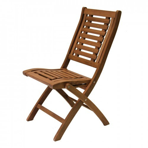 Surprising Outdoor Interiors Eucalyptus Folding Side Chairs Set Of Two Cjindustries Chair Design For Home Cjindustriesco