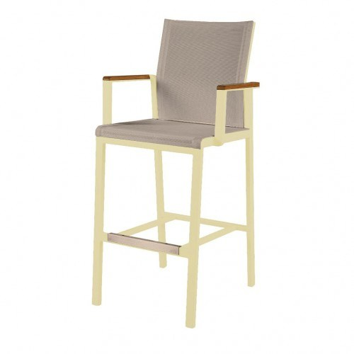 Fantastic Barlow Tyrie Aura Aluminum High Dining Armchair Theyellowbook Wood Chair Design Ideas Theyellowbookinfo