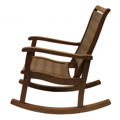 Groovy Outdoor Interiors Eucalyptus And Wicker Rocker Cjindustries Chair Design For Home Cjindustriesco