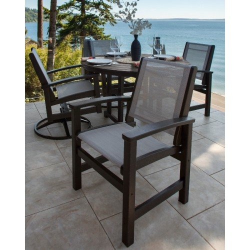 Pleasing Polywood Coastal 5 Piece Dining Ensemble Dailytribune Chair Design For Home Dailytribuneorg