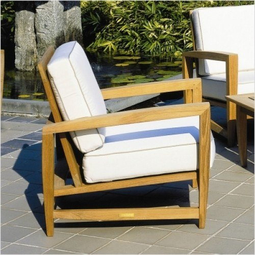 Groovy Kingsley Bate Amalfi Teak Deep Seating Lounge Chair Pabps2019 Chair Design Images Pabps2019Com