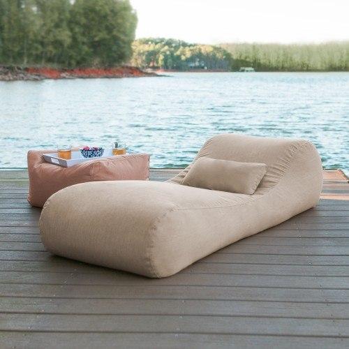 Astounding Arlo Outdoor Bean Bag Sun Lounger Flax Cjindustries Chair Design For Home Cjindustriesco