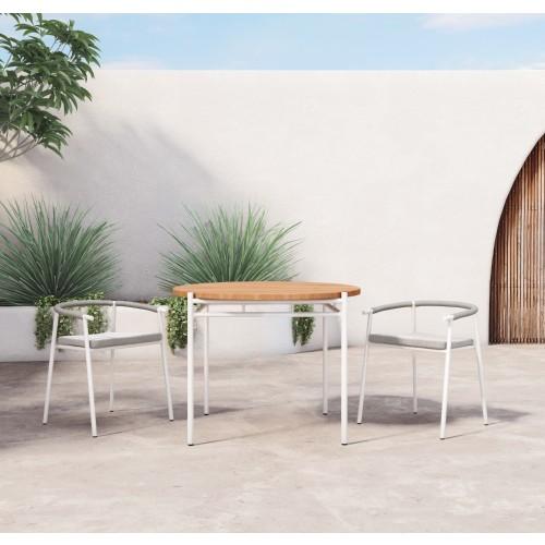 Aroba Natural Teak 42 Outdoor Bistro Table, Four Hands Outdoor Furniture Reviews