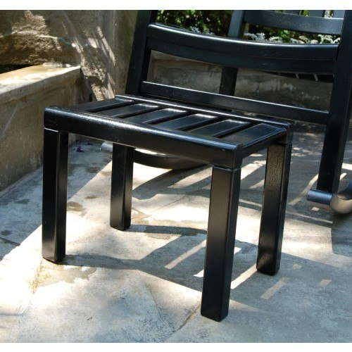 Excellent Americana Outdoor Footstool Painted Black Machost Co Dining Chair Design Ideas Machostcouk