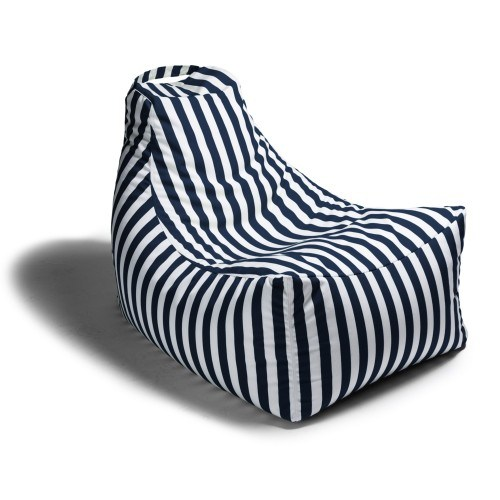 Brilliant Juniper Outdoor Patio Bean Bag Chair Navy Stripe Ocoug Best Dining Table And Chair Ideas Images Ocougorg