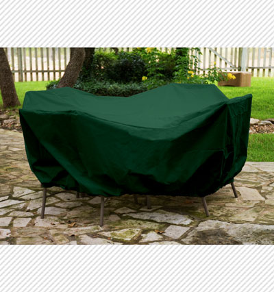 Round Table Dining Set Cover Green Product Photo