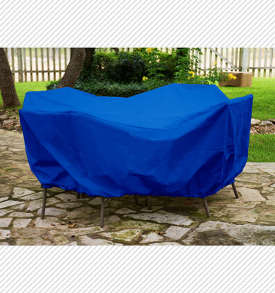 Round Table Dining Set Cover Blue Product Photo