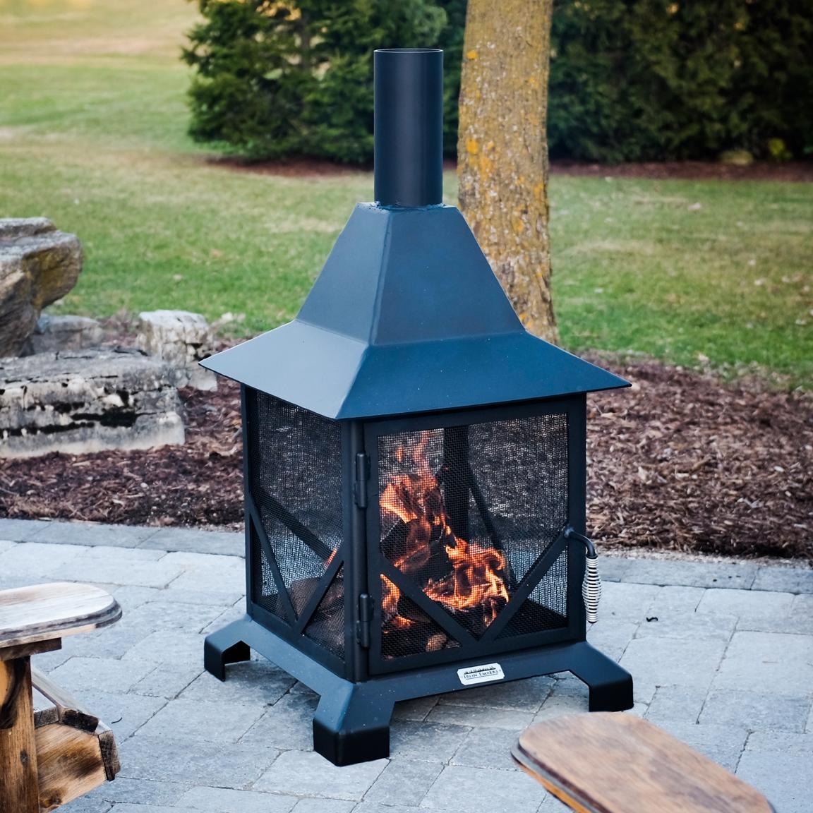 Iron Embers Chiminea Outdoor Fireplace