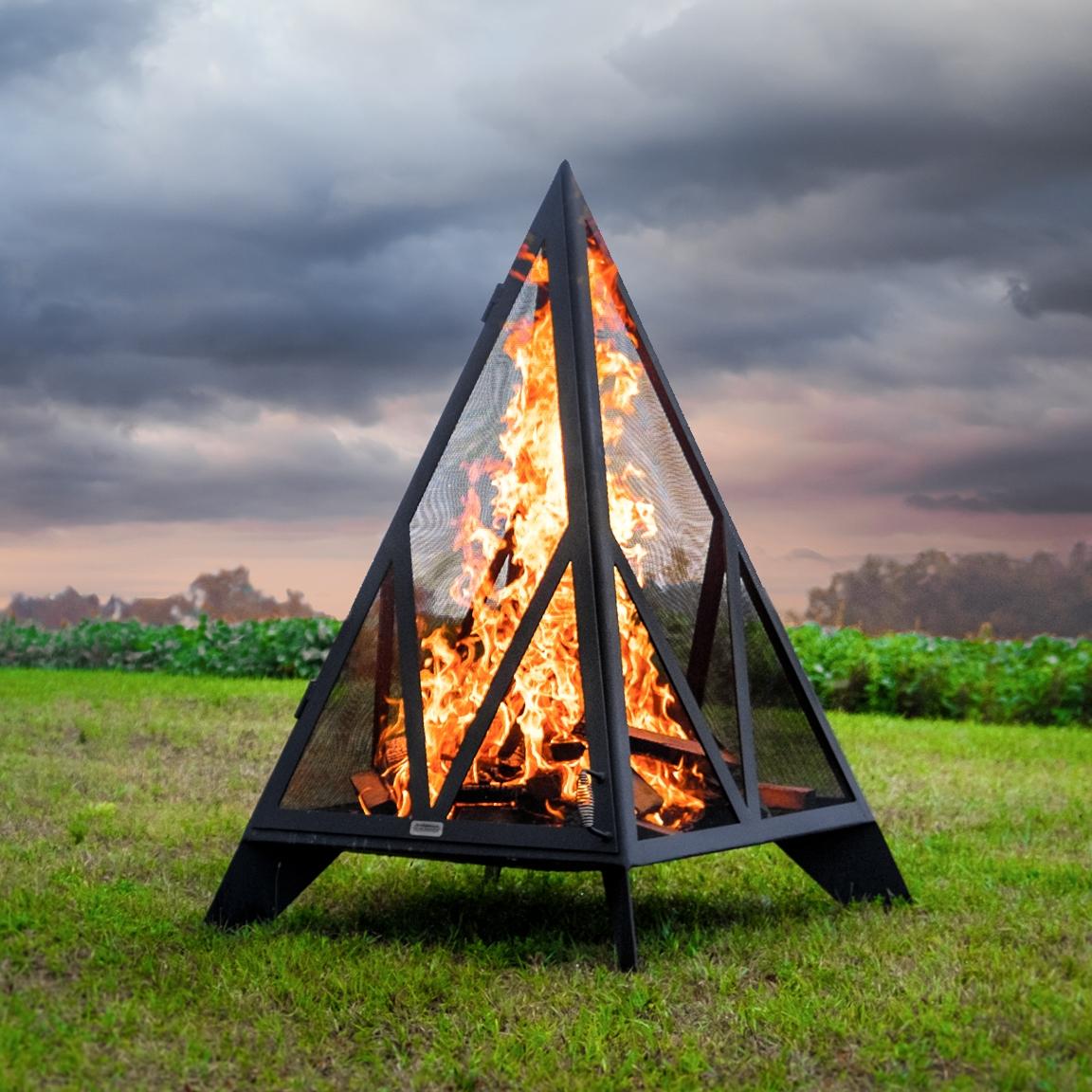 Iron Embers Pyramid Outdoor Fireplace