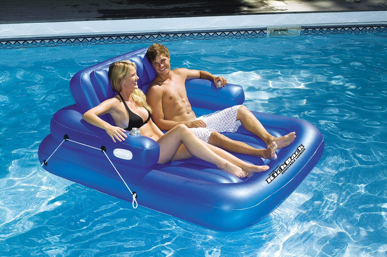 Recline Double Pool Lounger Product Photo