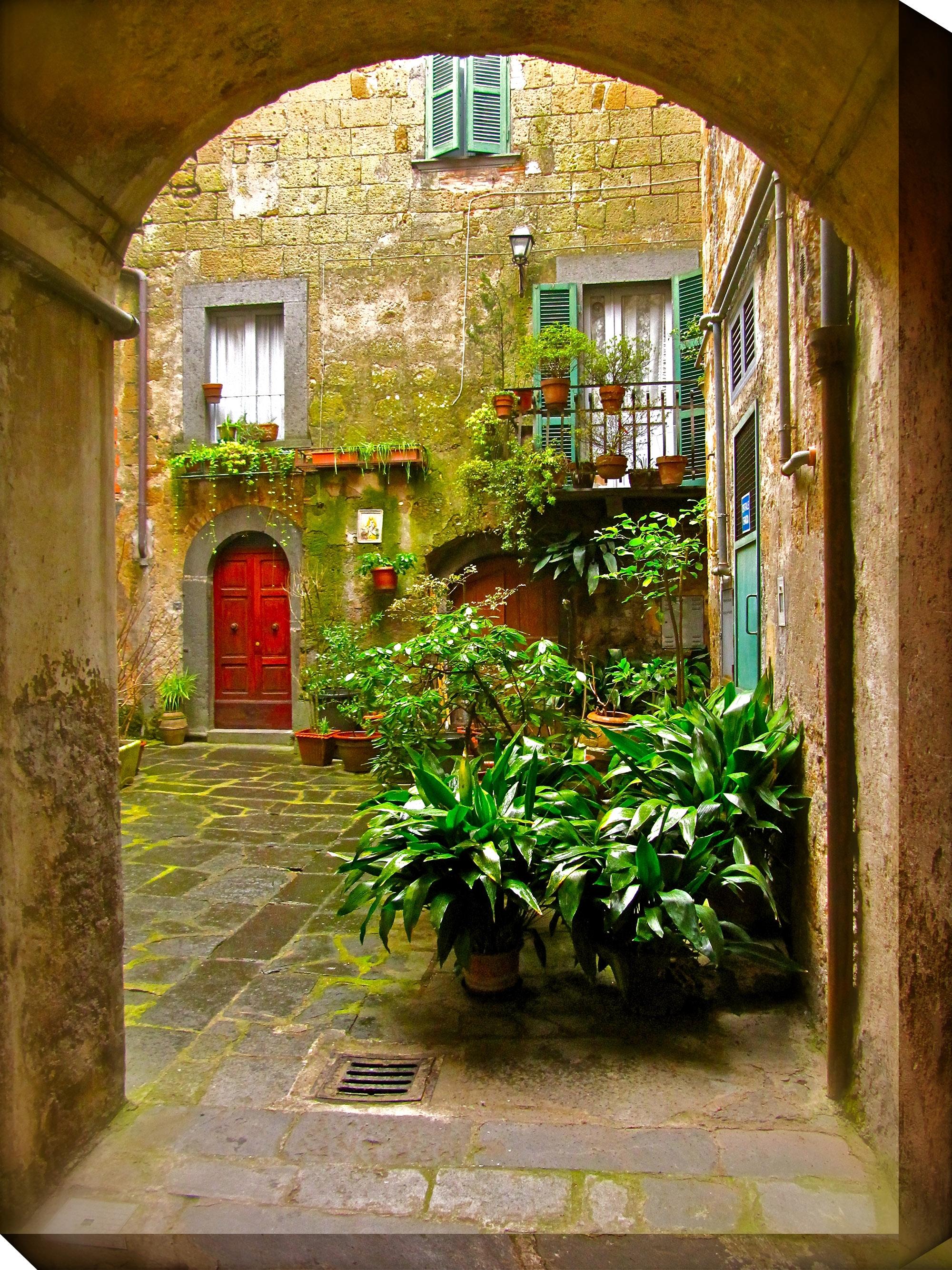Canvas Wall Art Italian Courtyard Product Photo