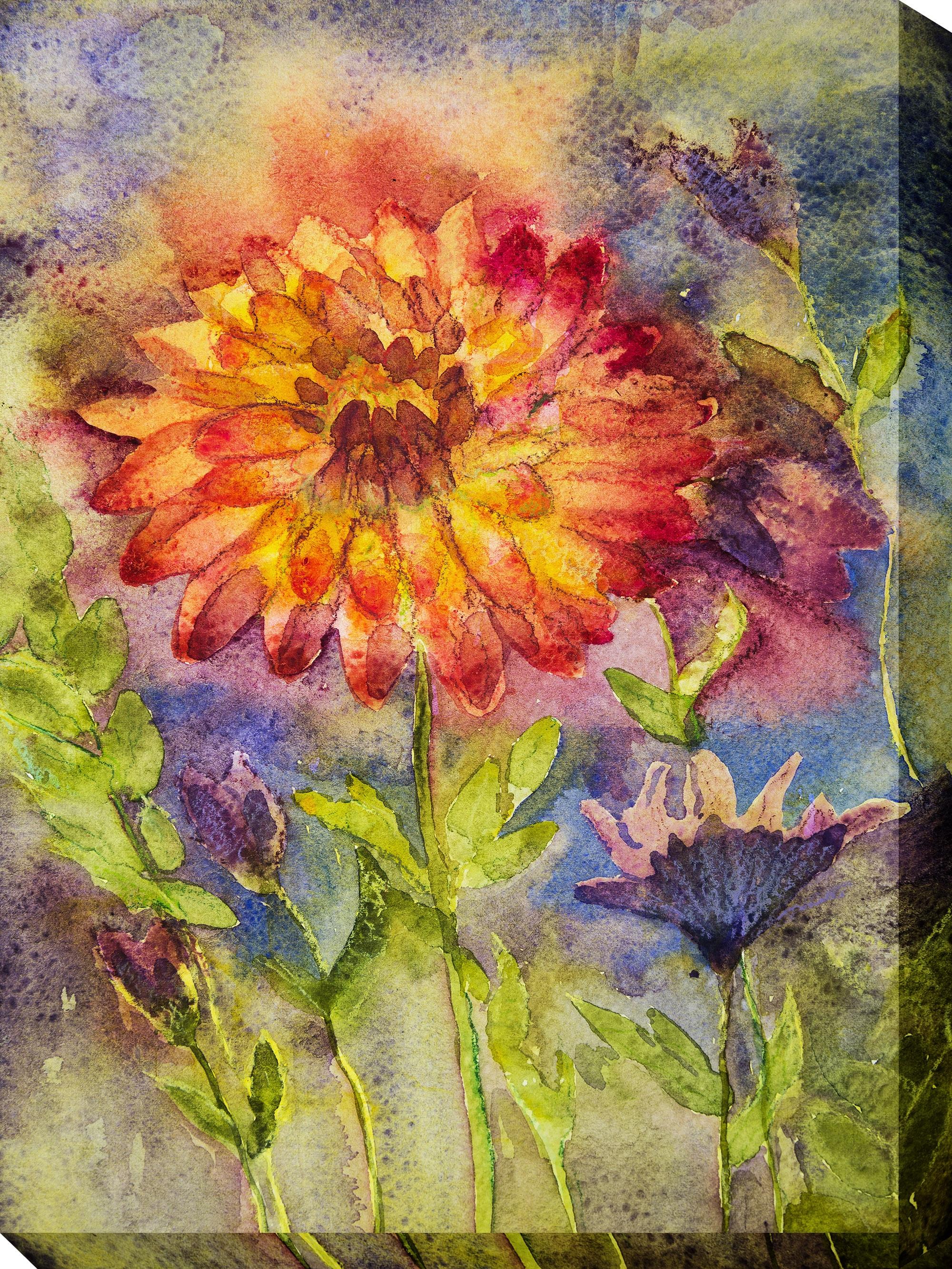 Canvas Wall Art Zinnia Product Photo