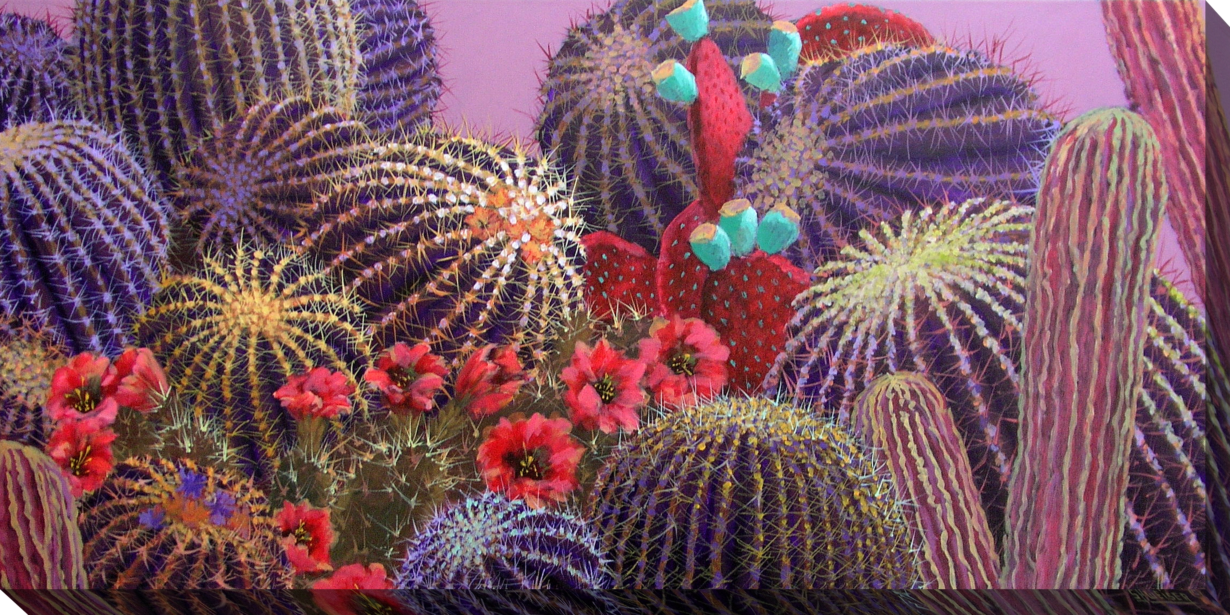 Canvas Wall Art Evening Cactus Product Photo