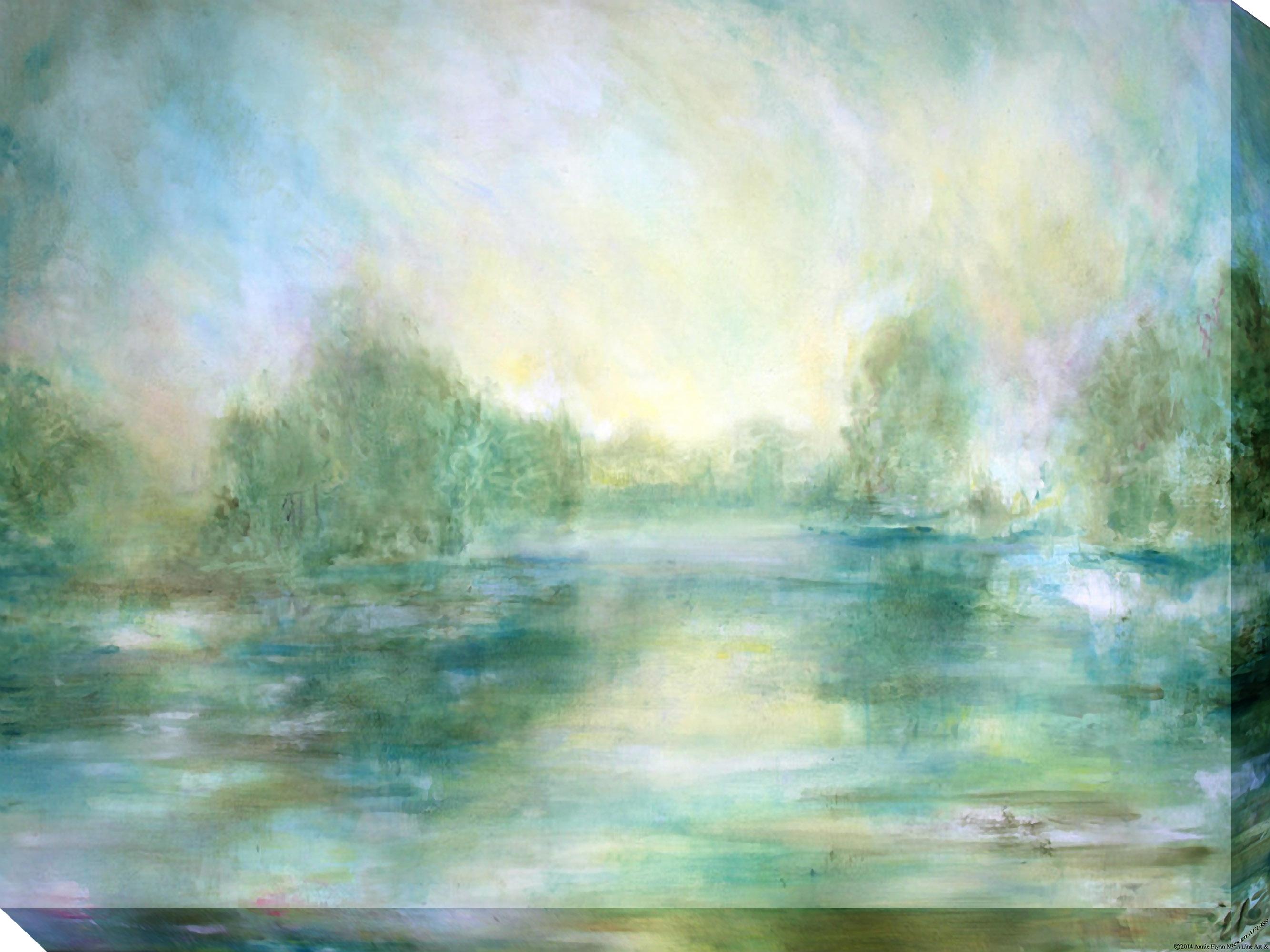 Canvas Wall Art Lake View Product Photo