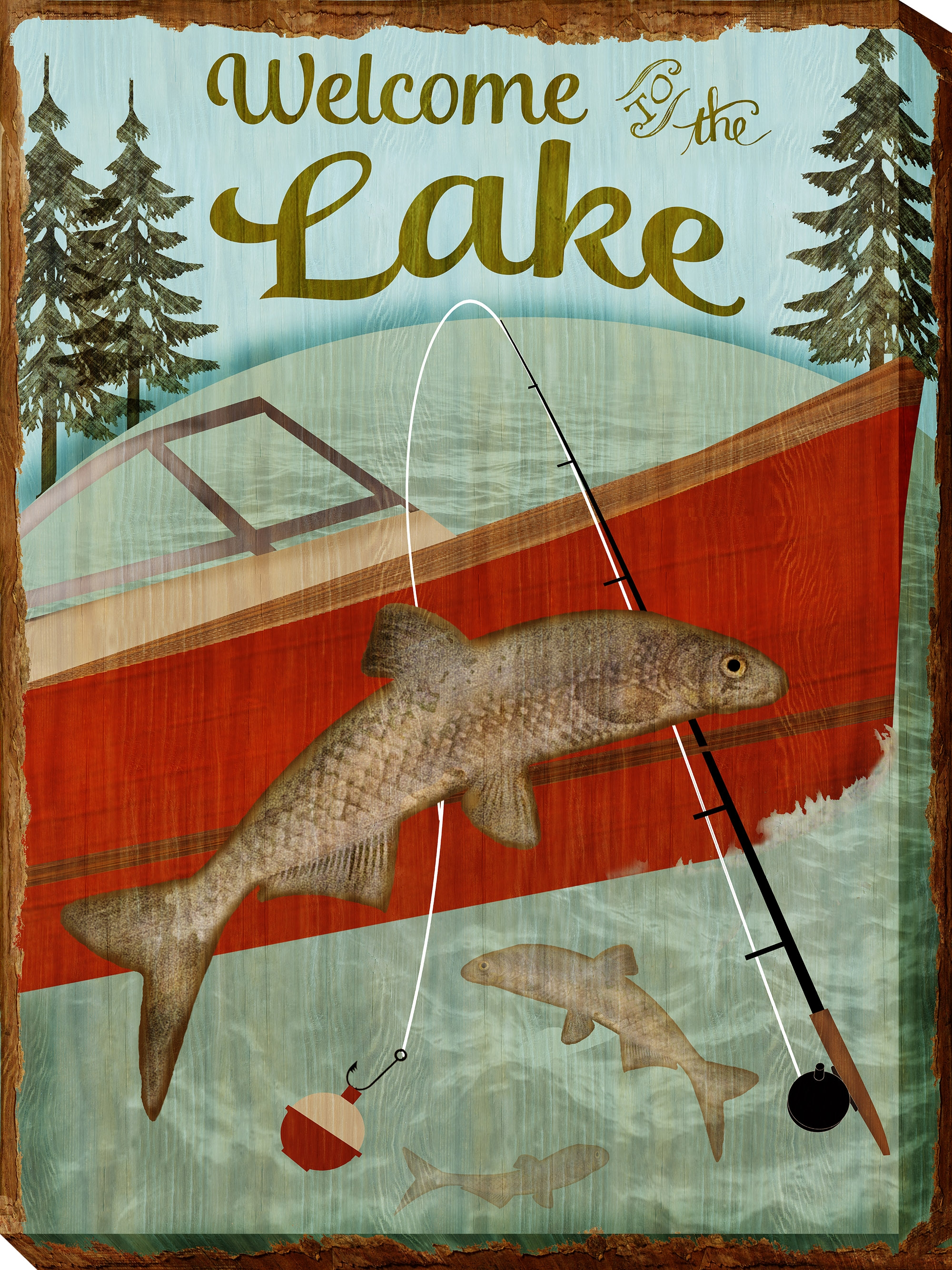 Canvas Wall Art Welcome Lake Product Photo