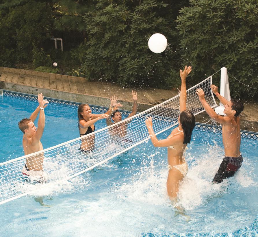 Pool Jam Combo Volleyball Basketball Game Product Photo