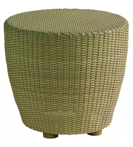 Wicker Round End Table Product Photo