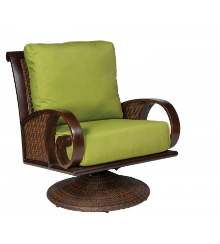 Wicker Swivel Rocking Lounge Chair Product Photo