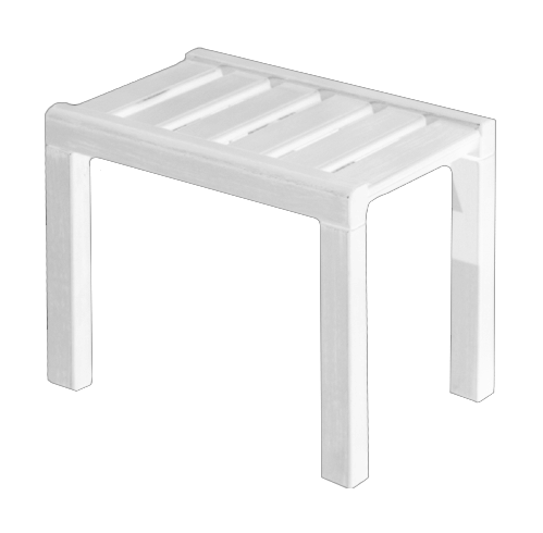 Americana Outdoor Footstool White